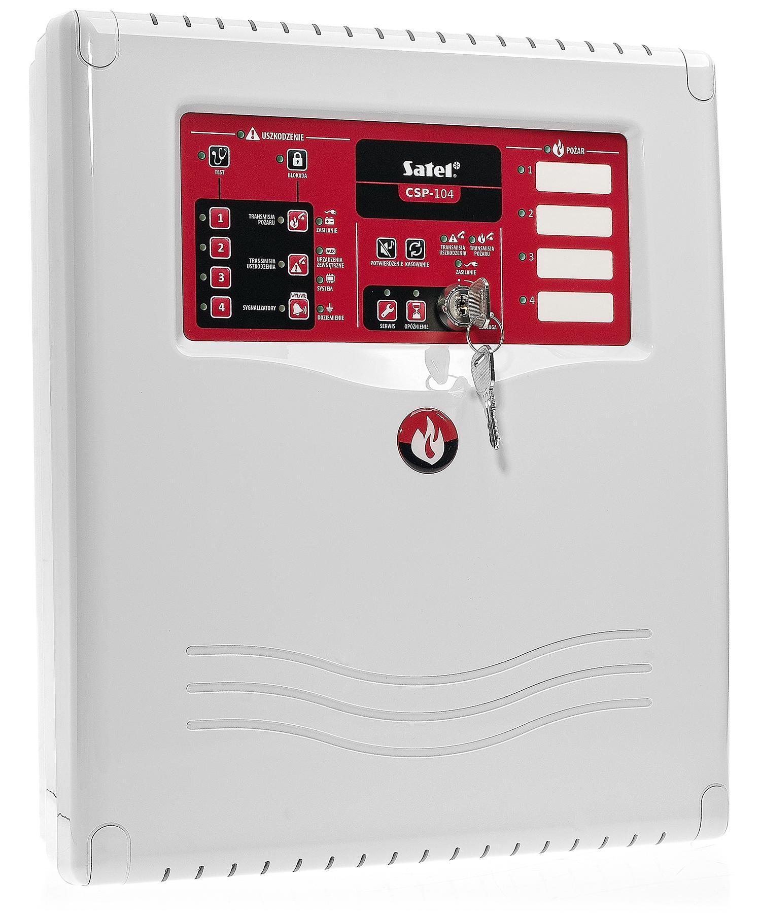 Centrala sygnalizacji pożarowej CSP-104 Satel