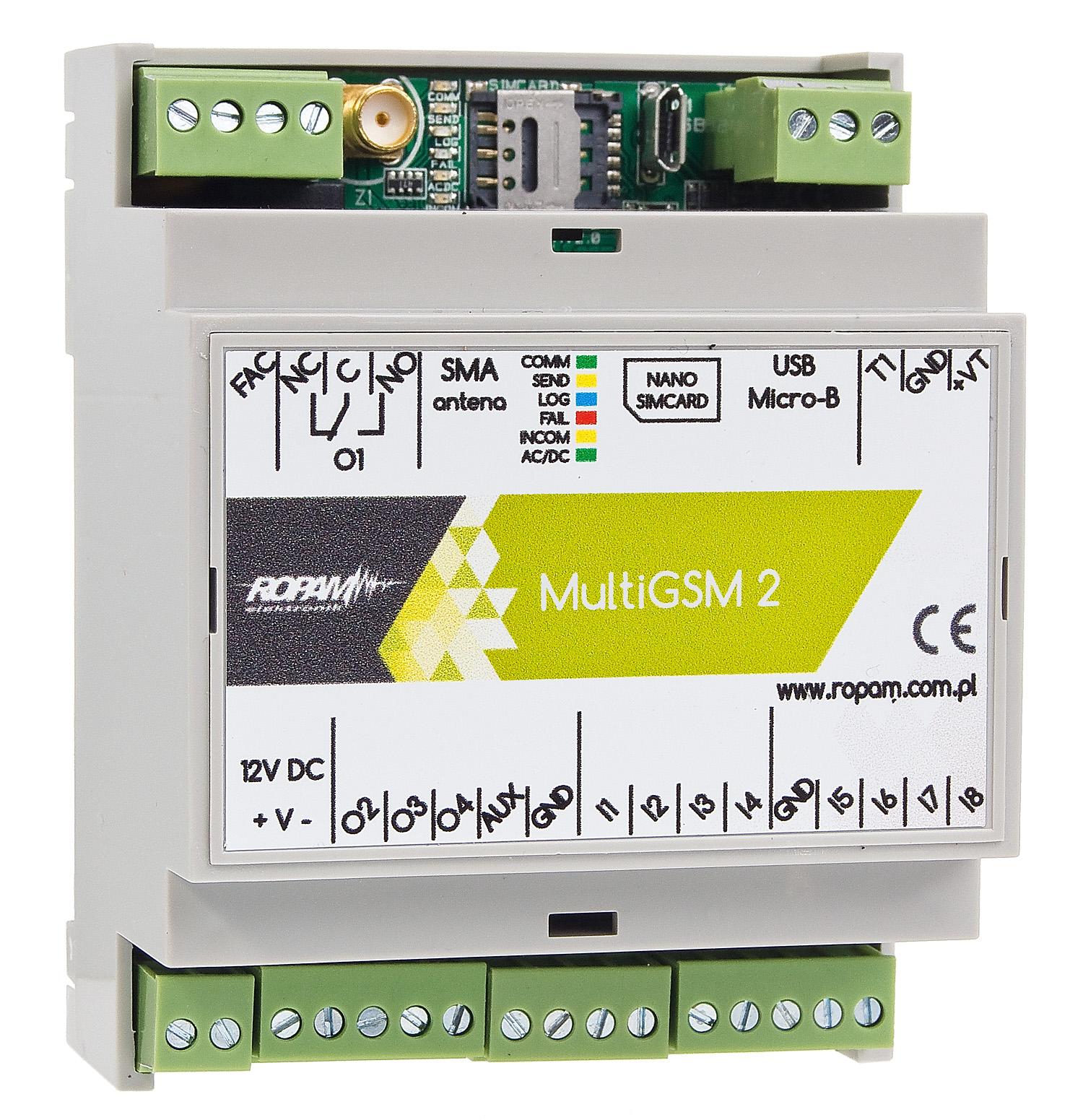 Moduł powiadomień GSM Ropam MultiGSM-D4M 2