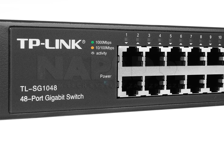 Panel z diodami LED szwitcha 1Gbps TLSG1048 TPLINK