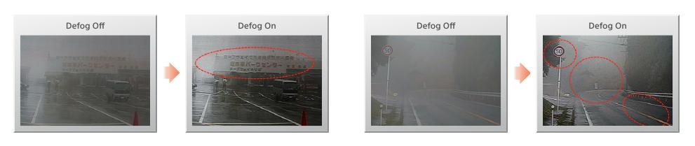 Defog system in video surveillance camera