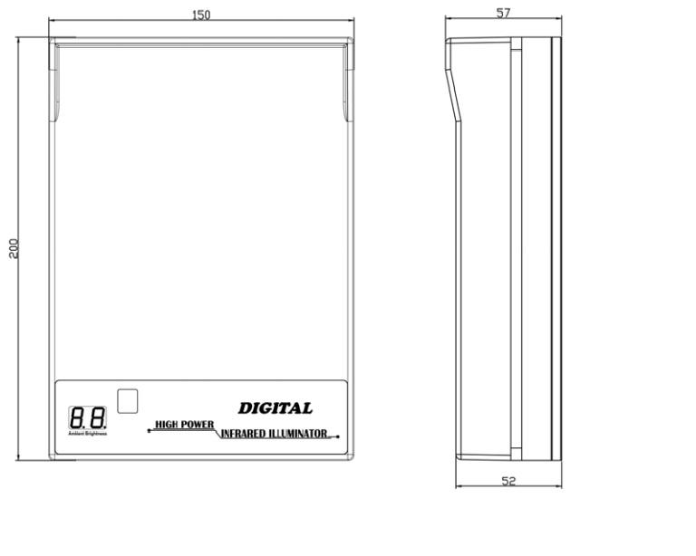 Oświetlacz podczerwieni 15-IL-3830 wymiary
