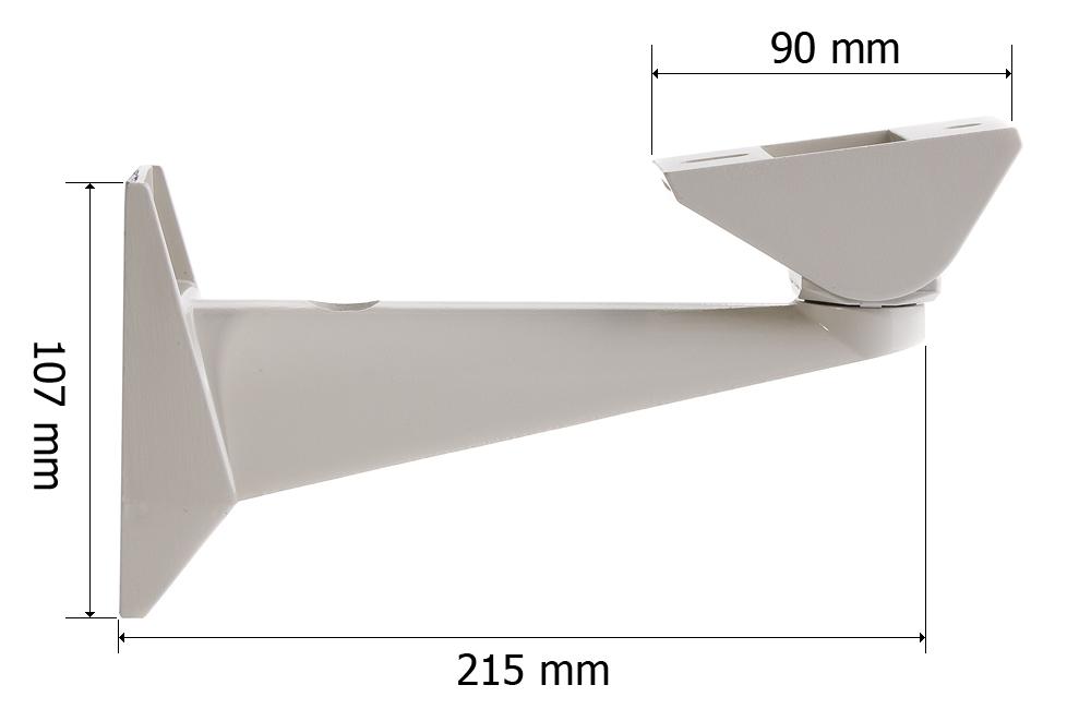 Wymiary uchwytu GL210.