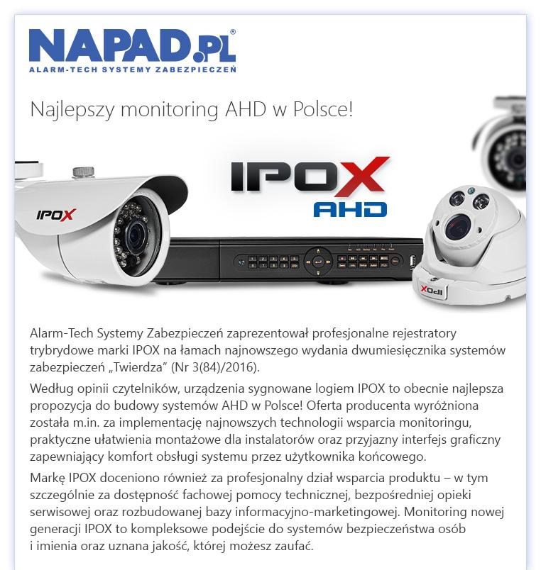 IPOX - Najlepszy monitoring AHD w Polsce!