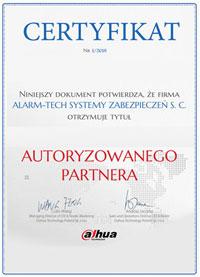 Certyfikay Autoryzowanego Partnera Dahua