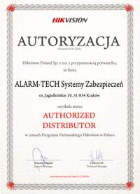Certyfikat Hikvision