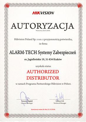 Autoryzowany Dystrybutor Hikvision Easy IP 3.0 - certyfikat