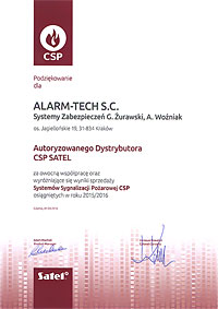 Autoryzowana Dystrybucja Satel CSP - certyfikat