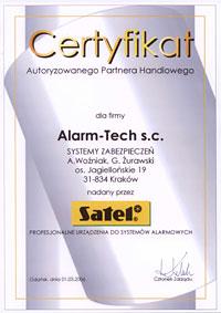 Autoryzowana Dystrybucja Satel - certyfikat