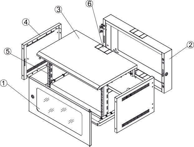 Komponenty szaf wiszących, dwusekcyjnych.