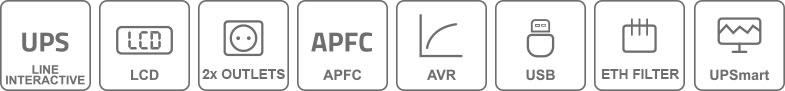 Właściwości zasilacza UPS650-T-LI/LCD