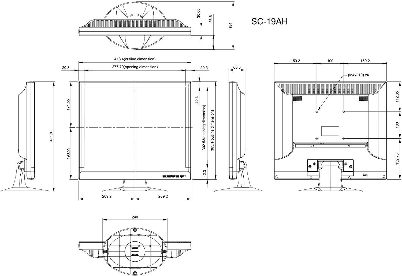 Zaktualizowano Monitor SC-19AH 19