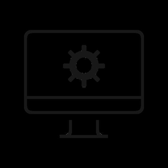 Regulacja poprzez konfigurator w komputerze.