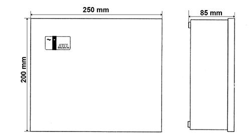 Wymiary przełącznika IP-9-11-E.
