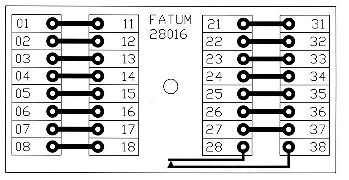28016 - Schemat skrzynki przyłączeniowej.