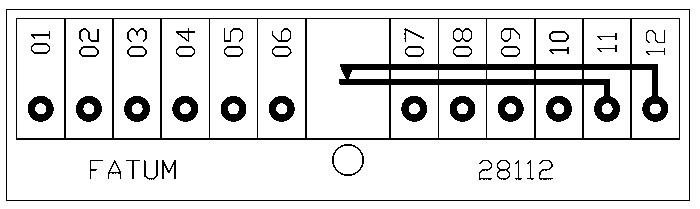 28112 - Schemat skrzynki przyłączeniowej.