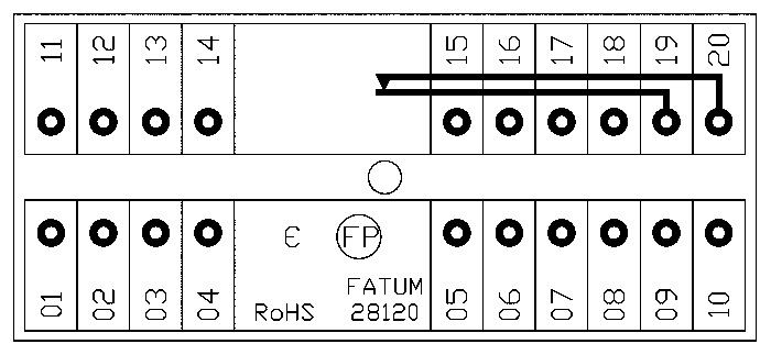 28120 - Schemat skrzynki przyłączeniowej.