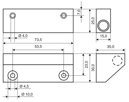 MC270-S48 (T) - wymiary czujnika w mm.
