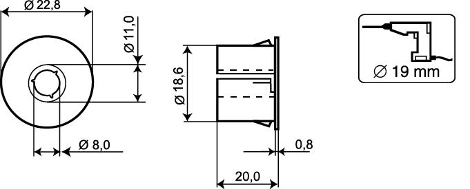 MC300-S31 - wymiary podane w mm.