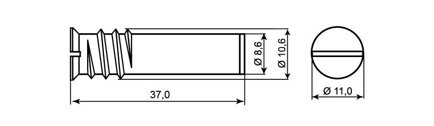 MC 200-M - Wymiary magnesu.