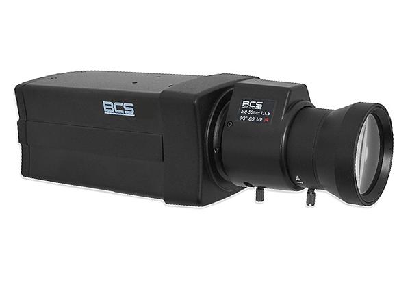 BCS-BQ7200 - Widok kamery z zamontowanym obiektywem.