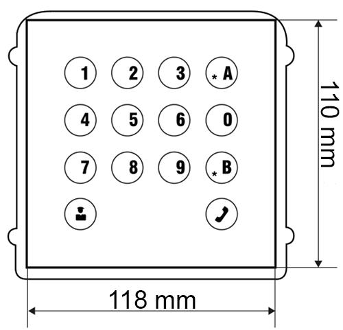 Wymiary modułu BCS-PAN-K