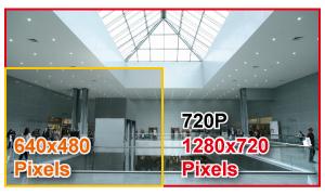 Porównanie rozdzielczości 640 x 480 z 720p