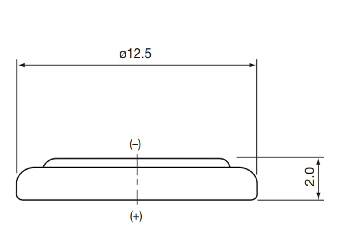 Bateria CR1220 Maxell wymiary.