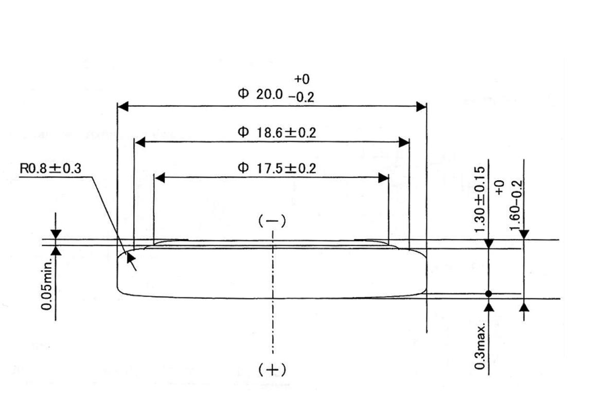 Bateria CR2016 Duracell wymiary.