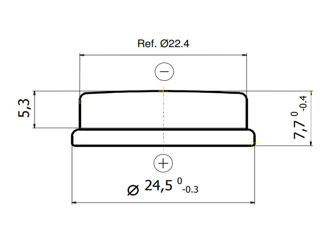 Bateria CR2477N Renata wymiary.