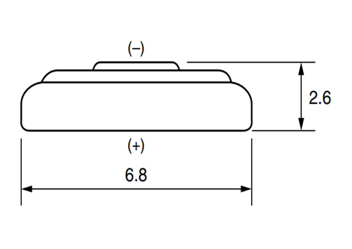 Bateria SR626SW Maxell wymiary.
