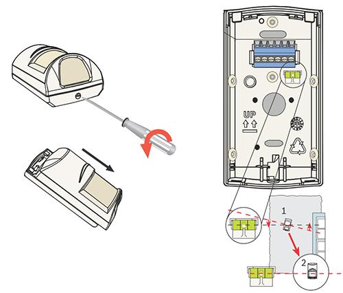 Wygodna instalacja czujnika ruchu Bosch.