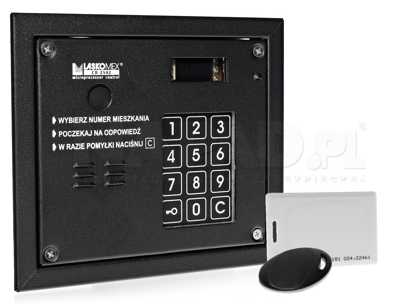 CD2503R - Panel z wbudowanym czytnikiem RFID.