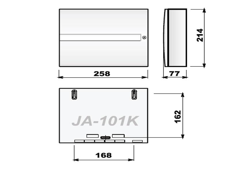 JA101K bezprzewodowa centrala JABLOTRON wymiary