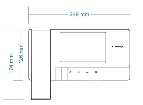 CDV-35A / CDV-35A (DC) - Wymiary monitora do wideodomofonu.