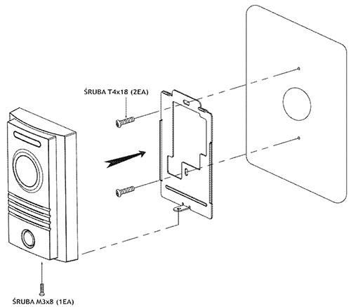 Montaż kamery DRC-40KPT