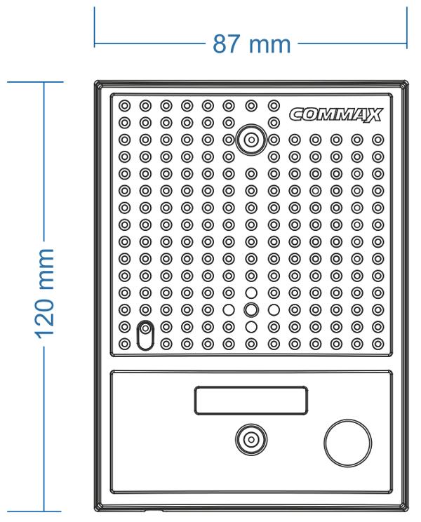 DRC-4CGN2  - Wymiary kamery do wideodomofonu.