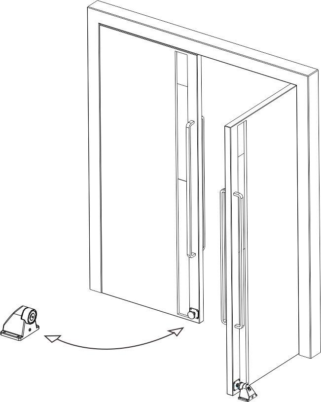 Sposób montażu Trzymacza drzwi DH10.