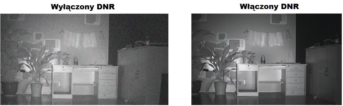 Cyfrowa redukcja szumów DNR w kamerze DS-2CE16C2T-IR.
