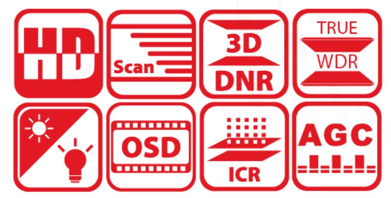 DS-2CC12D9T-A - Wybrane funkcje.