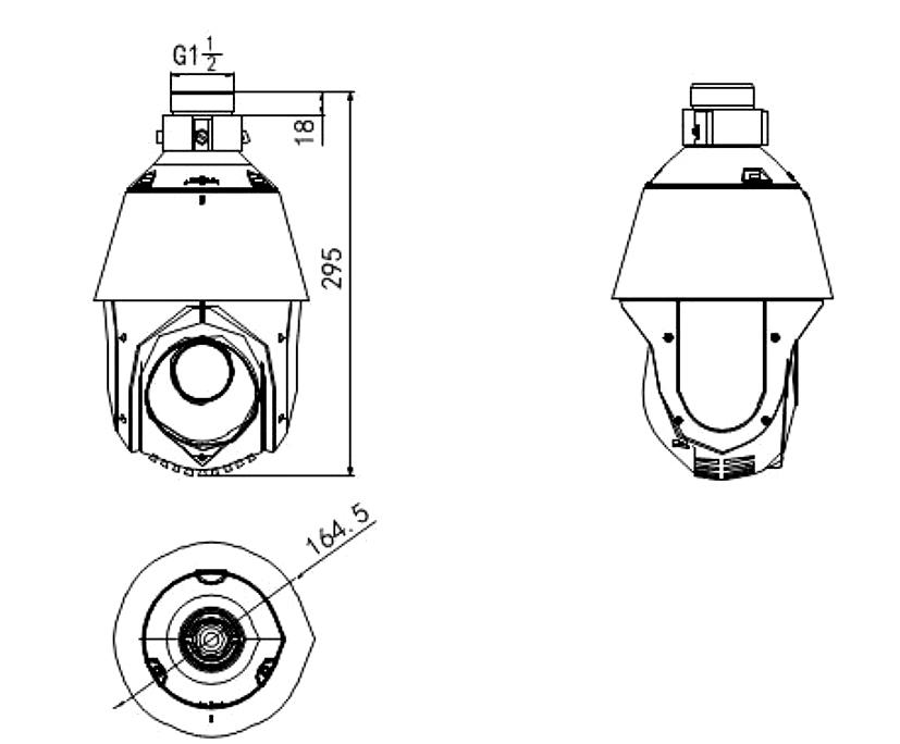 DS-2DE4220IW-DE - Wymiary kamery IP PTZ.