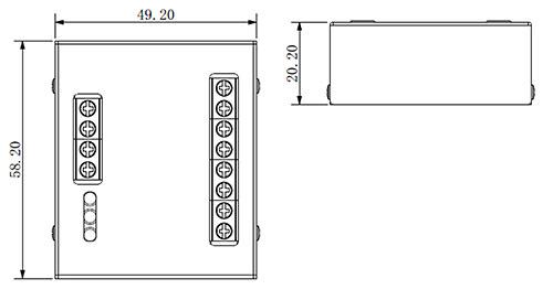 Wymiary modułu kontroli dostępu Dahua DEE1010B