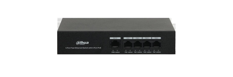 Switch PoE Dahua PFS3005-4ET-36