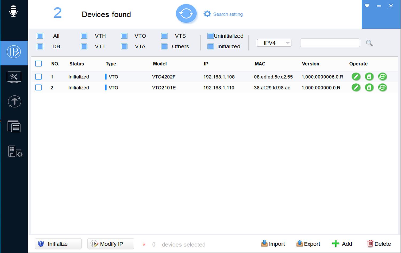 Interfejs aplikacji VDPConfig.