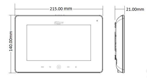 VTH5221DW / VTH5221D - Wymiary monitora do wideodomofonu.