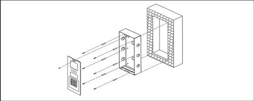 VTOB101 - Przykład instalacji osłony podtynkowej.