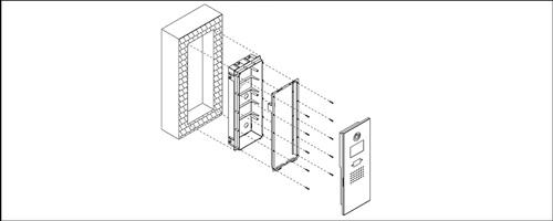 VTOB102 - Przykład instalacji osłony podtynkowej.
