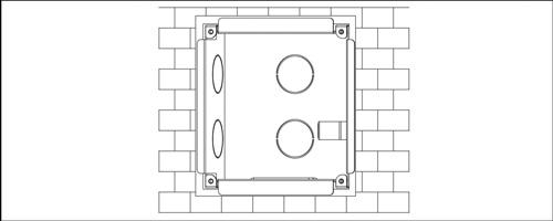 VTOB107 - Przykład instalacji osłony podtynkowej.