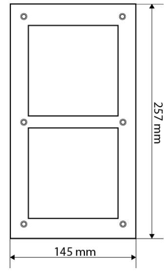 Wymiary panela montażowego Dahua VTOF 002