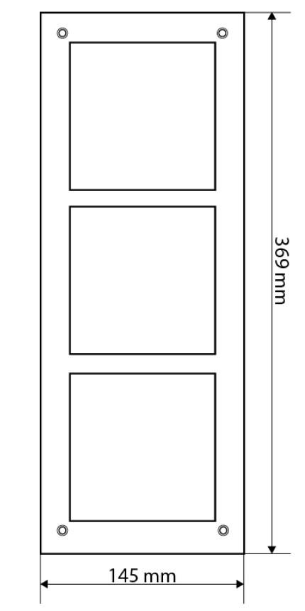 Wymiary panela montażowego Dahua VTOF 003