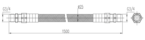 Wymiary przegubu łączeniowego (mm).